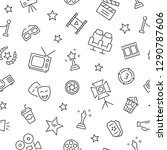 seamless pattern with cinema.... | Shutterstock .eps vector #1290787606