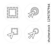 4 line focus  selection  cursor ... | Shutterstock .eps vector #1290787966