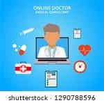 online doctor  internet...   Shutterstock .eps vector #1290788596