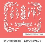 floral frames. corners and... | Shutterstock .eps vector #1290789679