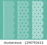vector set of line borders with ... | Shutterstock .eps vector #1290792613