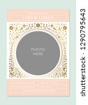 baby announcement card template ... | Shutterstock .eps vector #1290795643