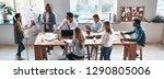 sales report. top view of two... | Shutterstock . vector #1290805006