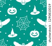 halloween 2019 vector seamless... | Shutterstock .eps vector #1290810019