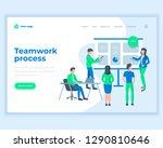 landing page template teamwork... | Shutterstock .eps vector #1290810646
