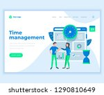 landing page template time... | Shutterstock .eps vector #1290810649