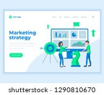 landing page template marketing ... | Shutterstock .eps vector #1290810670