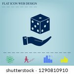 cubes for the game vector icon. | Shutterstock .eps vector #1290810910