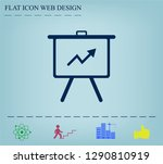 infographics on the stand ... | Shutterstock .eps vector #1290810919
