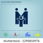 family image  parents and child ... | Shutterstock .eps vector #1290810976