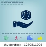 cubes for the game vector icon. | Shutterstock .eps vector #1290811006