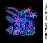 summer composition. exotic...   Shutterstock .eps vector #1290814060