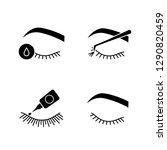 eyelash extension glyph icons... | Shutterstock .eps vector #1290820459