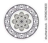 fashion medallion. vector... | Shutterstock .eps vector #1290824833
