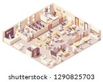 vector isometric corporate... | Shutterstock .eps vector #1290825703