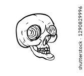 Black And White Skull...
