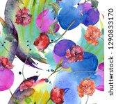 red poppy floral botanical... | Shutterstock . vector #1290833170