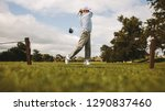 professional golfer taking shot ... | Shutterstock . vector #1290837460