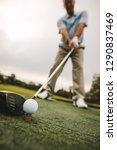 golf club and golf ball on... | Shutterstock . vector #1290837469