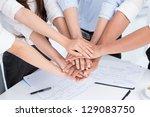 closeup of people's hands...   Shutterstock . vector #129083750