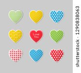 set of colorful heart icons for ... | Shutterstock .eps vector #1290838063