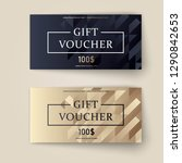 vector set of luxury gift... | Shutterstock .eps vector #1290842653