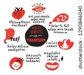 magnesium health benefits.... | Shutterstock .eps vector #1290846040