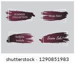 trendy banner flat design set... | Shutterstock .eps vector #1290851983