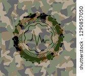 electrocardiogram icon inside... | Shutterstock .eps vector #1290857050