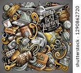 travel hand drawn vector... | Shutterstock .eps vector #1290862720