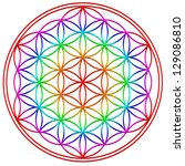 flower of life   rainbow  ... | Shutterstock . vector #129086810