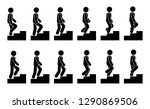 stick figure male on stairs... | Shutterstock .eps vector #1290869506