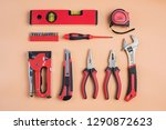 hammer  pliers  screwdriver are ... | Shutterstock . vector #1290872623