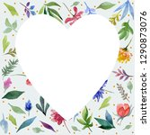 white heart shape for greeting... | Shutterstock . vector #1290873076