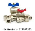 plumbing fixtures and piping... | Shutterstock . vector #129087323