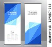 roll up business brochure flyer ... | Shutterstock .eps vector #1290874363