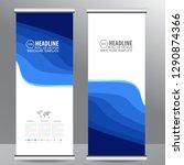 roll up business brochure flyer ... | Shutterstock .eps vector #1290874366