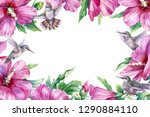 watercolor painting. hand drawn ... | Shutterstock . vector #1290884110