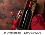 valentine's day greeting card... | Shutterstock . vector #1290884206