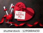 valentine's day greeting card... | Shutterstock . vector #1290884650