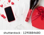 valentine's day greeting card... | Shutterstock . vector #1290884680