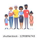 set of different african... | Shutterstock .eps vector #1290896743