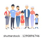 set of different asian couples... | Shutterstock .eps vector #1290896746