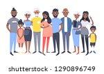set of different african... | Shutterstock .eps vector #1290896749