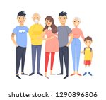 set of different couples and... | Shutterstock .eps vector #1290896806