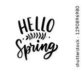 hand drawn lettering hello... | Shutterstock .eps vector #1290896980
