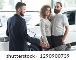 couple communicating with... | Shutterstock . vector #1290900739