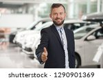 handsome manager of car... | Shutterstock . vector #1290901369