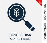 jungle disk search icon.... | Shutterstock .eps vector #1290903439