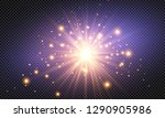 glow light effect. vector... | Shutterstock .eps vector #1290905986